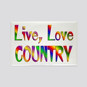 Live Love Country Rectangle Magnet