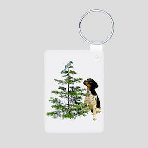 Bird Dog Tree Aluminum Photo Keychain