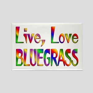 Live Love Bluegrass Rectangle Magnet