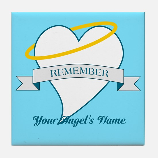 Remember My Angel Tile Coaster