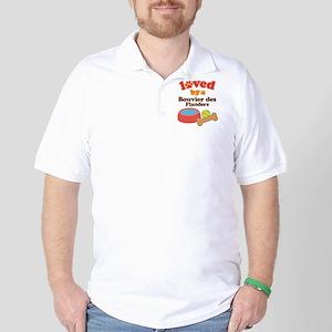 Bouvier des Flanders Dog Gift Golf Shirt