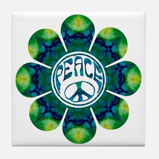 Peace Flower - Meditation Tile Coaster