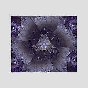Amazing Fractal Triskelion Purple Pa Throw Blanket
