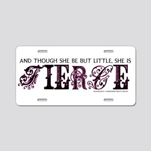 She is Fierce - Ecelectic Aluminum License Plate