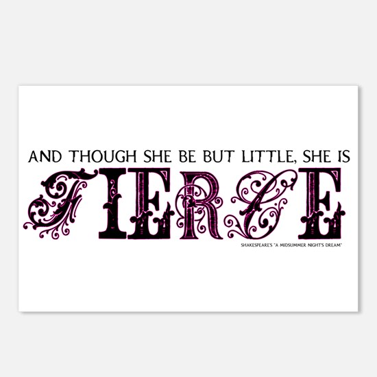 She is Fierce - Ecelectic Postcards (Package of 8)