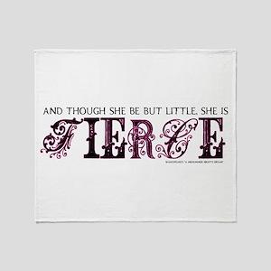 She is Fierce - Ecelectic Throw Blanket