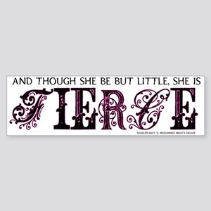 She is Fierce - Ecelectic Sticker (Bumper)