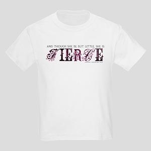 She is Fierce - Ecelectic Kids Light T-Shirt