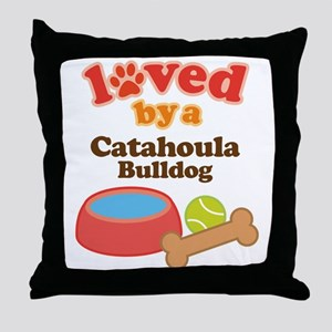 Catahoula Bulldog Pet Gift Throw Pillow