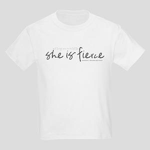 She is Fierce - Handwriting 2 Kids Light T-Shirt
