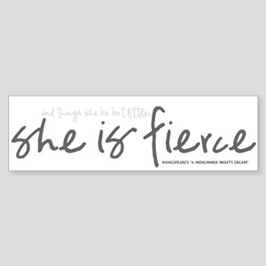 She is Fierce - Handwriting 2 Sticker (Bumper)