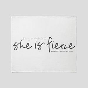 She is Fierce - Handwriting 2 Throw Blanket