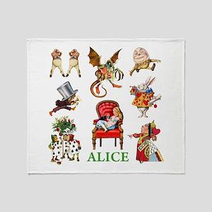 Alice In Wonderland Throw Blanket