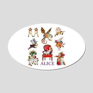 Alice In Wonderland 22x14 Oval Wall Peel
