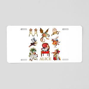 Alice In Wonderland Aluminum License Plate