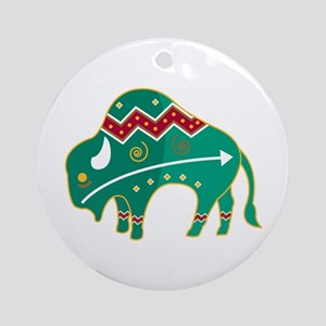Indian Spirit Buffalo Ornament (Round)