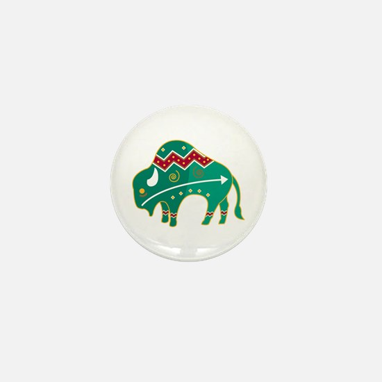 Indian Spirit Buffalo Mini Button