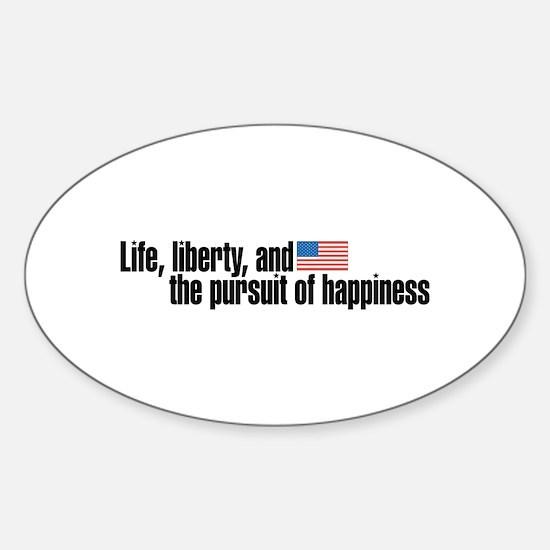 Life, Liberty, Pursuit Oval Decal