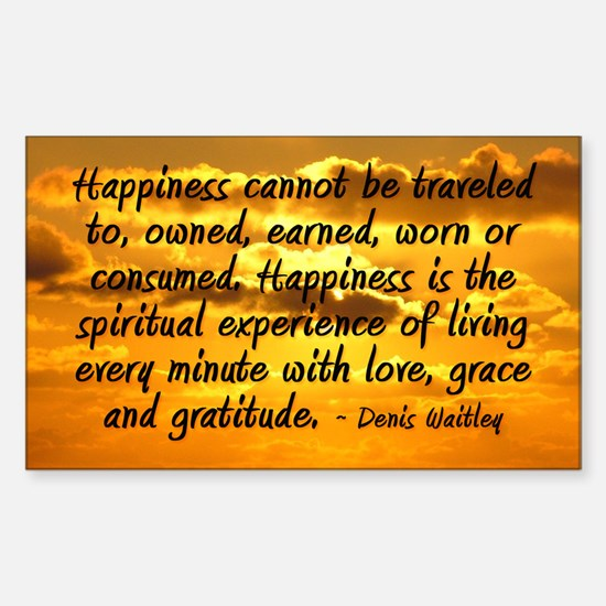 """""""Happiness Is"""" Sticker (Rectangle)"""