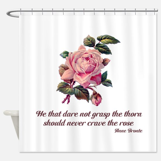 Brave Rose Shower Curtain