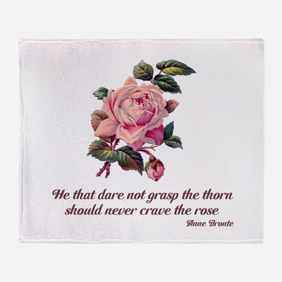 Brave Rose Throw Blanket