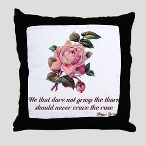 Brave Rose Throw Pillow