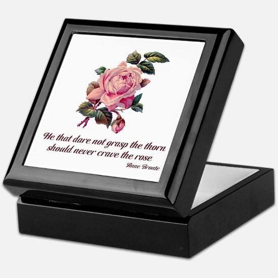 Brave Rose Keepsake Box