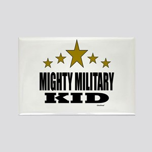 Mighty Military Kid Rectangle Magnet