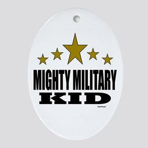 Mighty Military Kid Ornament (Oval)