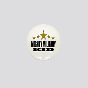 Mighty Military Kid Mini Button