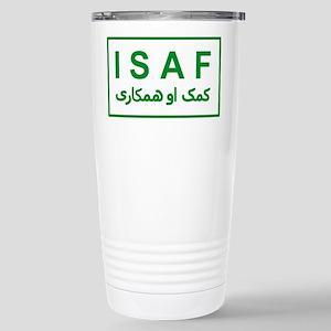 ISAF - Green (2) Stainless Steel Travel Mug