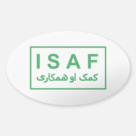 ISAF - Green (2) Sticker (Oval)