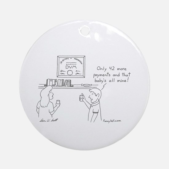 Veterinary Student Graduation Ornament (Round)
