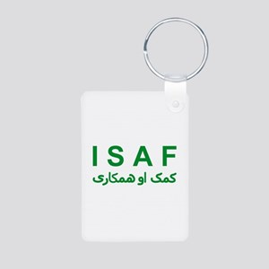 ISAF - Green (1) Aluminum Photo Keychain