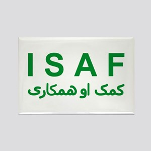 ISAF - Green (1) Rectangle Magnet