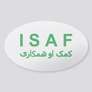 ISAF - Green (1) Sticker (Oval)