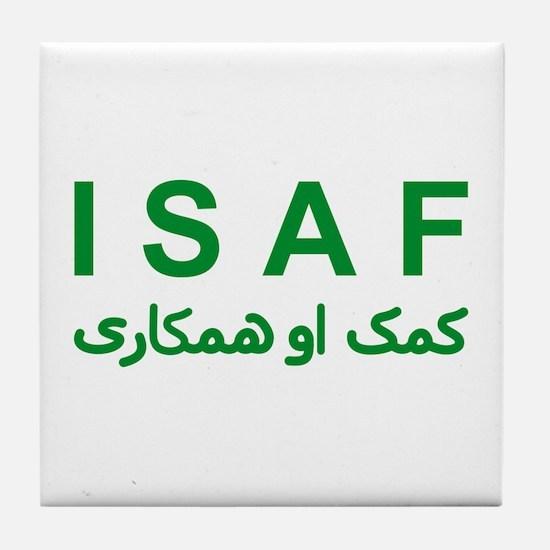 ISAF - Green (1) Tile Coaster