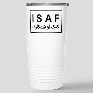ISAF - B/W (2) Stainless Steel Travel Mug