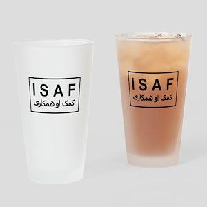 ISAF - B/W (2) Drinking Glass