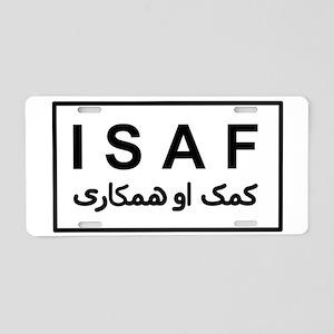 ISAF - B/W (2) Aluminum License Plate