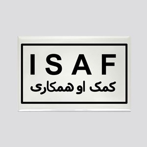 ISAF - B/W (2) Rectangle Magnet