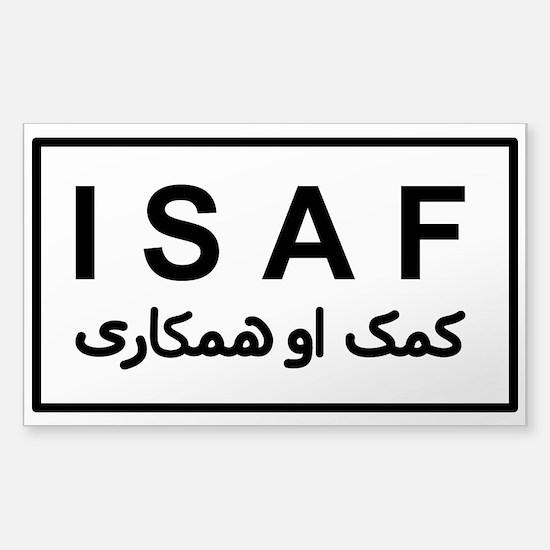 ISAF - B/W (2) Sticker (Rectangle)