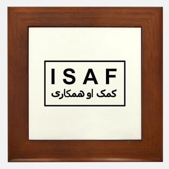 ISAF - B/W (2) Framed Tile