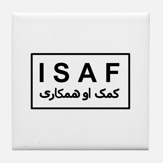 ISAF - B/W (2) Tile Coaster