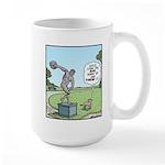 Dog and Discus Thrower Large Mug