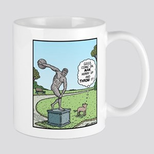 Dog and Discus Thrower Mug