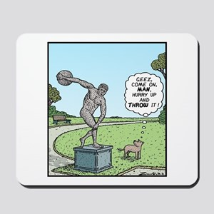 Dog and Discus Thrower Mousepad