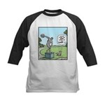 Dog and Discus Thrower Kids Baseball Jersey
