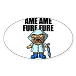 AMEAME FUREFURE Sticker (Oval)