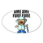AMEAME FUREFURE Sticker (Oval 10 pk)